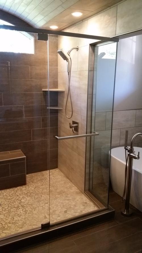 Heady Glass Shower W/ Header Kit | Heavy Glass Shower W/ Header Kit ...