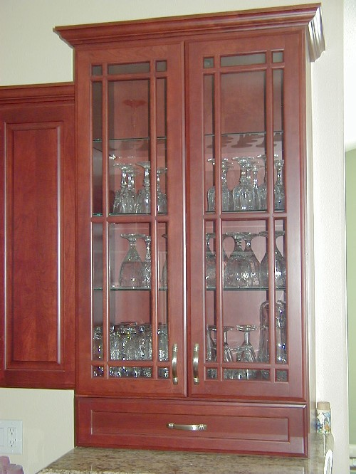 Kitchen Cabinet Glass Doors with Glass Shelves