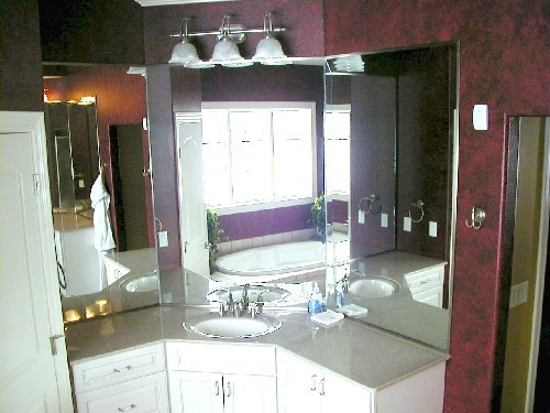 Tri-View Vanity Mirror with Chrome Channel Perimeter