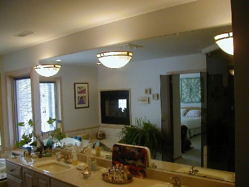 Vanity Mirror with Sconce Light thru Mirror