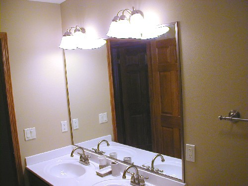Brushed Nickel Channel all 4 Sides of Mirror